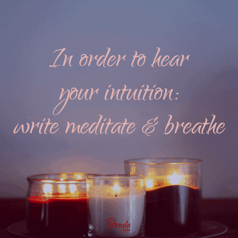 [TALK TO YOURSELF AS IF SOMEONE IS THERE] Hear your intuition